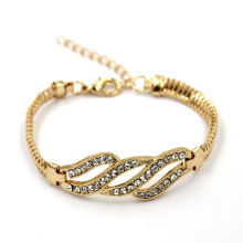 Promotion Fashion Jewelry Gold Plated Cusotm Crystal Bracelet Jewelry