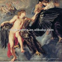 Pintura al óleo desnuda clásica