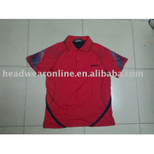 sport t shirt with silk screen printing