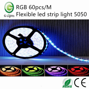 RGB 60pcs / M luz de tira led flexível 5050
