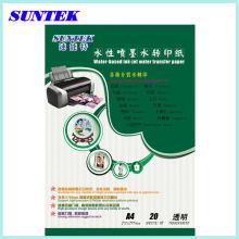 Suntek A4 Transparent Water Transfer Paper for Ceramic Inkjet Printer