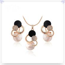 Joyería de cristal accesorios de moda joyería de aleación establece (ajs115)