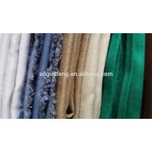Shandong usine textile 100% coton sergé tissu 21x21 108x58,20x20 108x58 sergé de coton