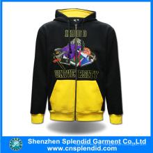 Hoodies feitos sob encomenda da aptidão da forma do fabricante de China com zíper