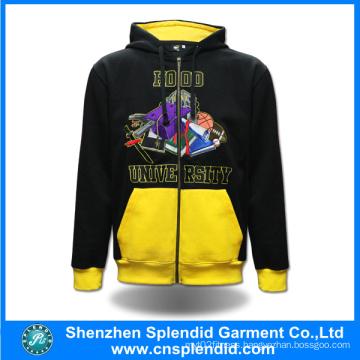 China Manufacturer Fashion Custom Made Fitness Hoodies with Zipper