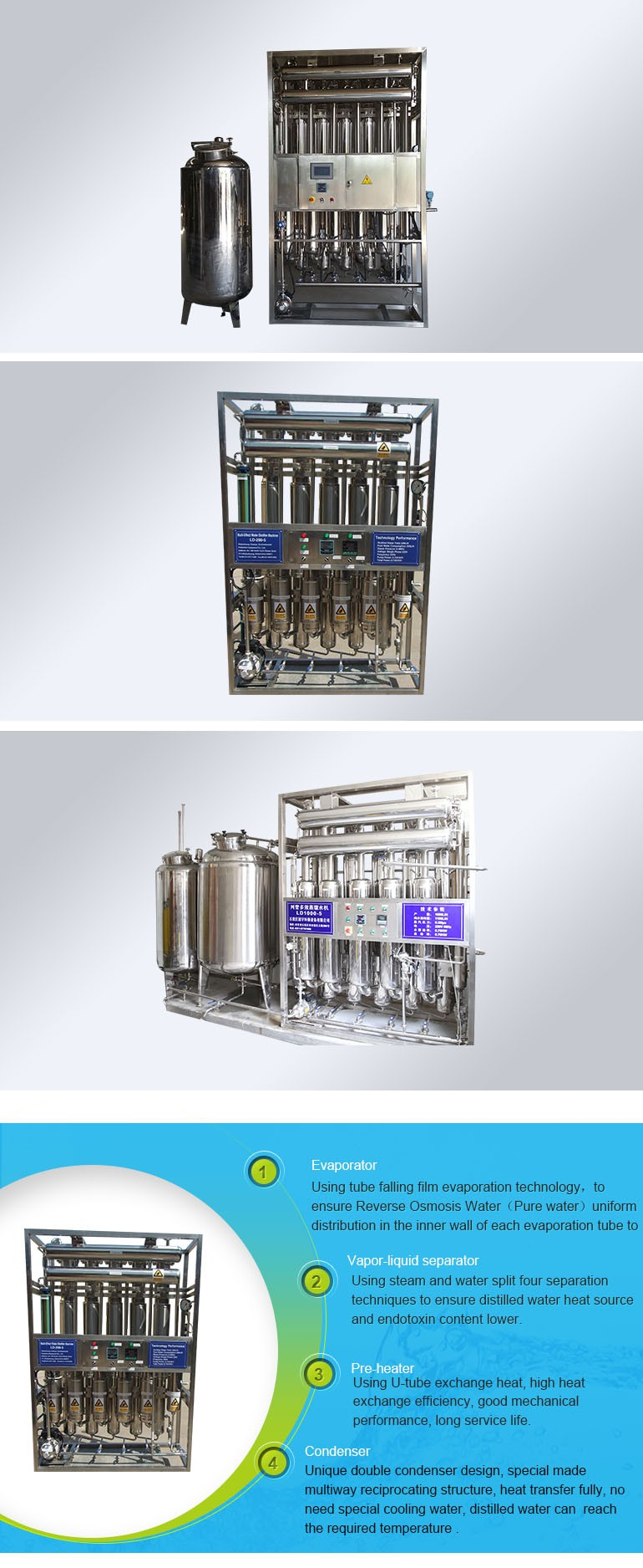 Double distillation water distiller