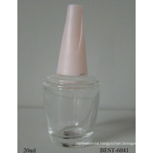 nail polish bottle with screw tread cap