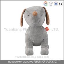 Valentine plush white grey stuffed dog with heart