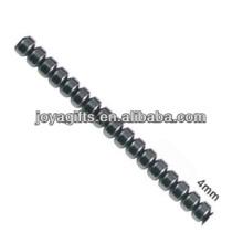Natural hematites de alta calidad 4MM sueltos perlas para la fabricación de joyas