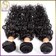 высокое качество человеческого волоса расширений, невидимые линии роста волос каштановые вьющиеся волосы расширения