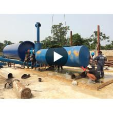20T / D CE, planta certificada ISO de la pirólisis del neumático usado en basura sólida municipal