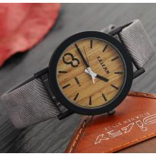 Yxl-467 2016 más nuevo diseño de madera de color al por mayor cara de reloj personalizado logotipo de cuero de moda reloj muñeca