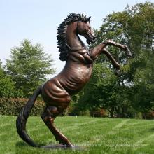 Estátua de bronze ao ar livre do cavalo da antiguidade do tamanho da vida para a venda