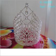 Großhandel Mode Perle große Festzug Kronen voll große personalisierte Tiara