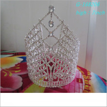 Wholesale Fashion pearl large pageant crowns full tall personalized tiara
