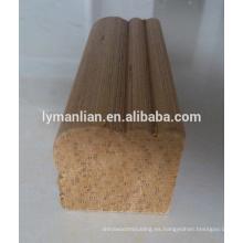 molduras de madera tallada de reconocimiento para la construcción, decoración / línea angular / moldura de madera cuádruple