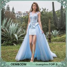 Sexy junior party dresses different types of frocks designs vestidos de fiesta evening dress blue color