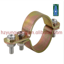 electric Line hardware connect fasten construction clamp accessory power street light pole mounting clamp steel strip fittings