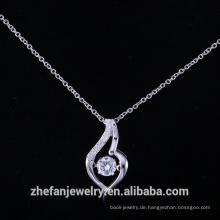 925 Sterling Silber Anhänger mit einem Zirkonia Designer