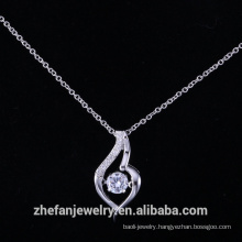 925 sterling silver dancing pendant with aaa cubic zirconia designer