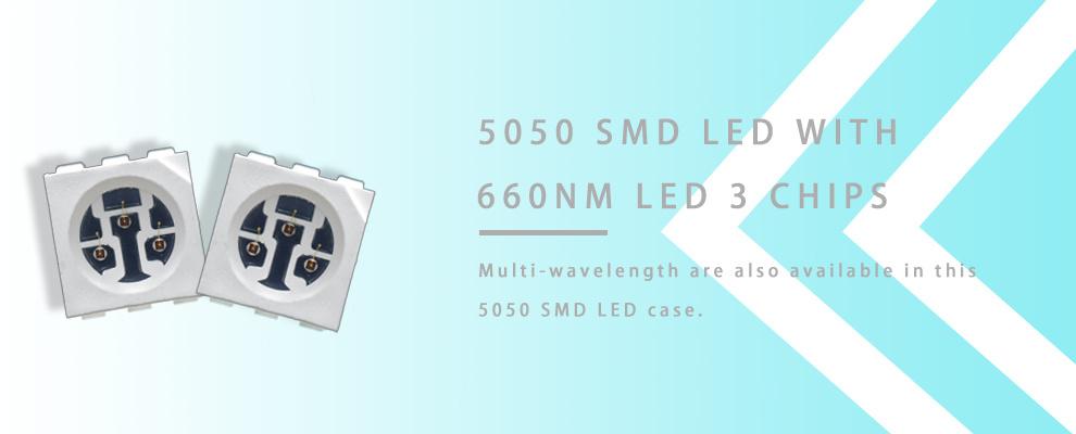 5050 SMD LED 660nm LED 3 three chips
