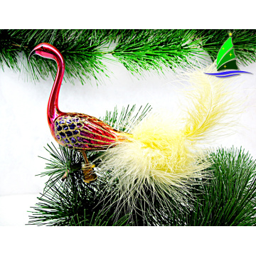 figurines animais de vidro handmade flamingo ornaments