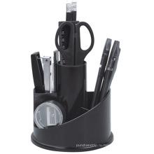 Пластиковый стол для ротации канцелярских принадлежностей в черном цвете407