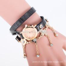 Los relojes de la correa de cuero de la vendimia de las mujeres de la manera fijaron los relojes BWL008 del vestido de las mujeres de la pulsera del taladro
