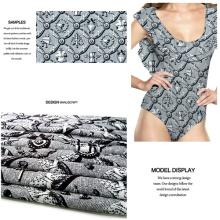 Impresión punto de fantasía vestido de Jersey tela para traje de baño, ropa deportiva,