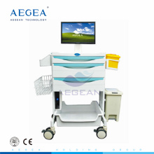 AG-MT014A CE ISO de alta calidad lujosa workstation hospital carretilla de la computadora