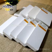 JINBAO Zone fijación de precios hoja de espuma de pvc forex material de gabinete de hoja