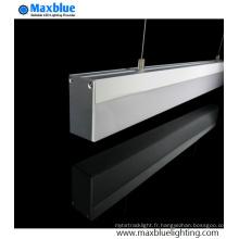 Profilé en aluminium suspendu suspendu pour bande LED
