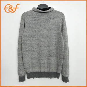 Young Fashion Knitwear Grey Turtle Neck Jumper Mens