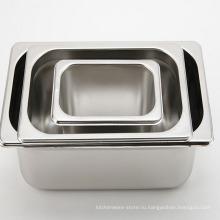 Нержавеющая сталь Обычные контейнеры для сервировки еды Поставка гостиницы GN Pan