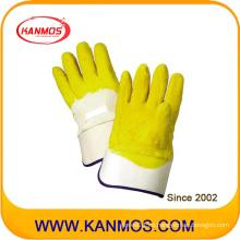 Guante de trabajo con manguito de Carvin de protección industrial de látex revestido de látex (52002)