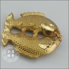 3D Pisces artesanato de ouro, decoração de casa de peixe (GZHY-HD-079)