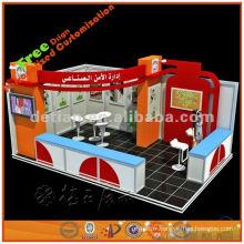 Fournisseur de stand d'exposition d'exposition ouverte de 3 côtés pour le salon commercial de l'affichage de Detian de Changhaï