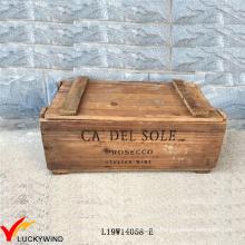 Восстановленный ручной хранения Vintage коричневый деревянный ящик для груди