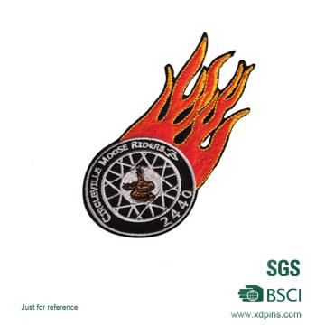 Remendo do bordado da polícia do logotipo do fogo