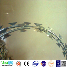 Lapangan Terbang Stainless Steel Razor Barbed Wire