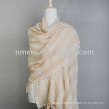 Fashion wrinkle&stripe Mercerized Wool Scarf/Shawl/Stole