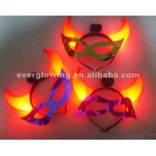 máscaras de chifre de brilho venda quente levou máscara de brilho até máscara de luz