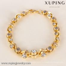 71604 Xuping Fashion Woman Bracelet con baño de oro