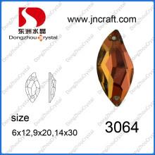 Plano posterior coser en piedra de cristal en forma de S