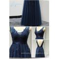 Tulle Sequined Beading Sleeveless Dress Women Evening
