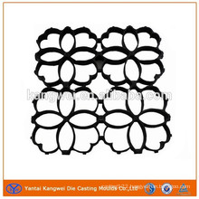 High Pressure Aluminum Die Casting Fence Flower with Black E-Coating Finish