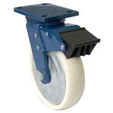 Industrial Swivel Nylon Caster Wheel with Dual Brake (White)