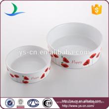 Productos de cerámica de la promoción del fabricante de cerámica del tazón de fuente del animal doméstico