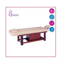 Cama de massagem de madeira com gaveta