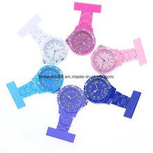 Fashion Medical Nurse Clip-on Fob Brooch Lapel Pocket Watches Plastic